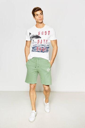 100% cotton printed Bermuda shorts