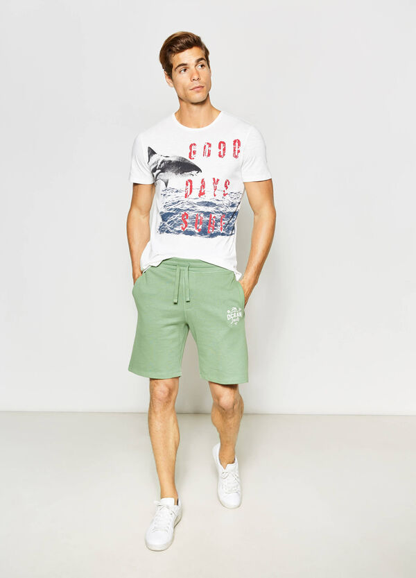 100% cotton printed Bermuda shorts | OVS