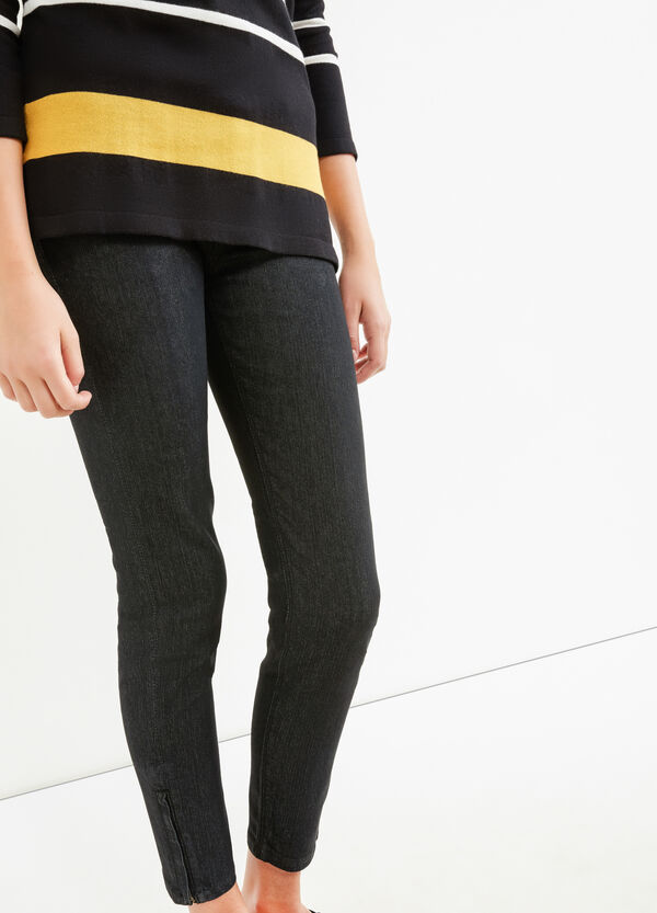 Skinny-fit stretch jeans with zip | OVS