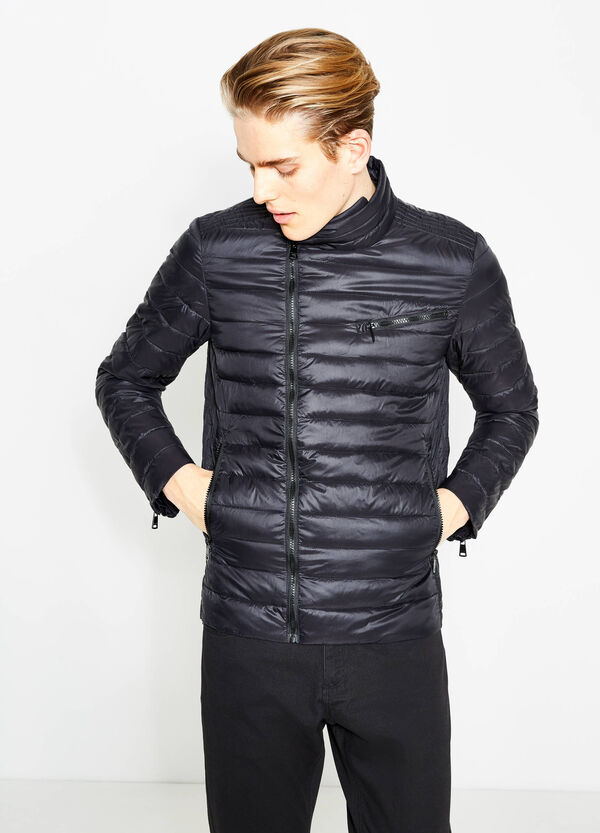 Down jacket with zips on the cuffs | OVS