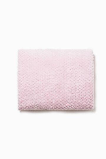 Blanket with raised weave, Pink, hi-res