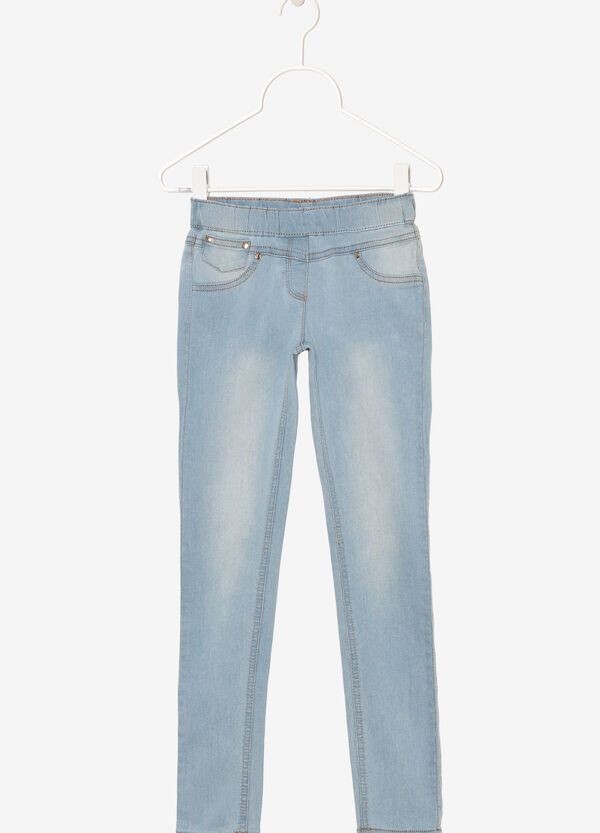 Jeans with elastic waist band. | OVS