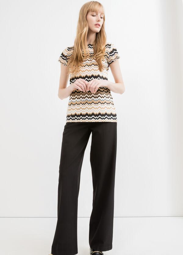 T-shirt cotone stretch con glitter | OVS