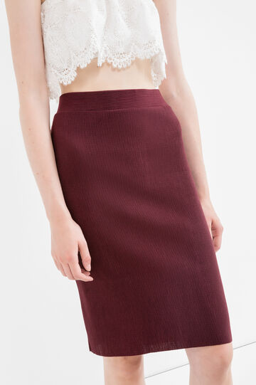 High-waisted pencil skirt, Dark Red, hi-res