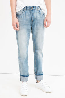 Straight fit jeans with whiskering, Light Wash, hi-res
