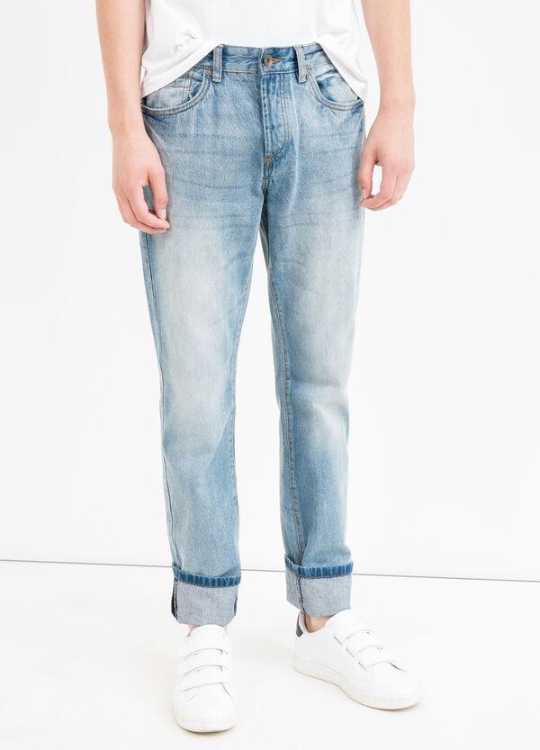 Jeans straight fit con baffature | OVS