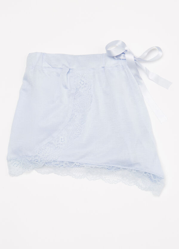 Shorts pigiama viscosa con pizzo | OVS
