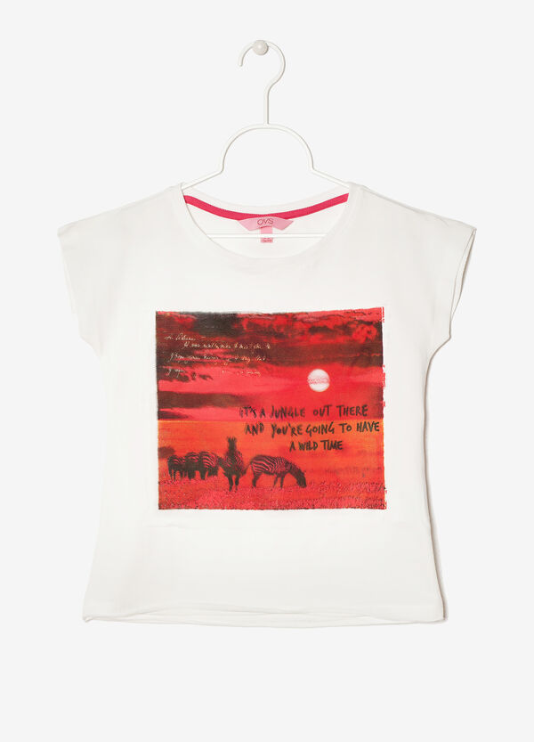Sleeveless T-Shirt with print | OVS