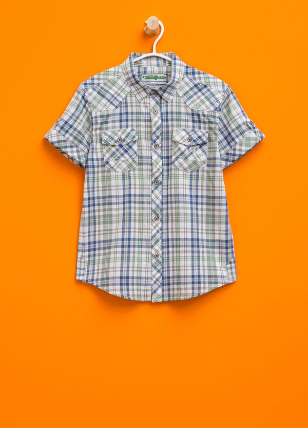 Short-sleeved tartan shirt | OVS