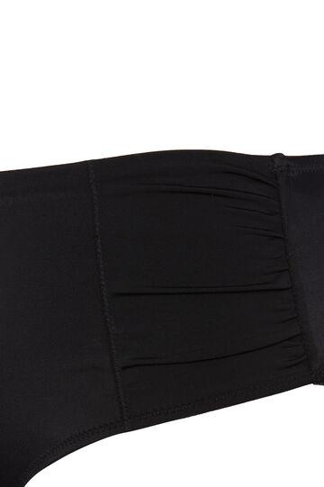 Curvy solid colour bikini bottoms, Black, hi-res