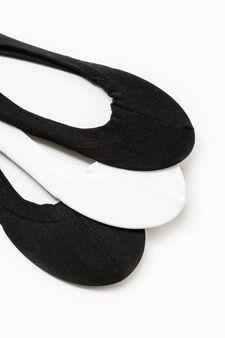 Set tre paia di calze salvapiedi, Nero/Bianco, hi-res