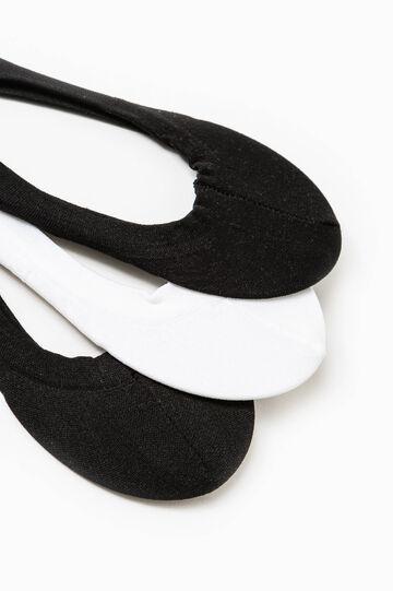 Three-pair pack shoe liners, Black/White, hi-res
