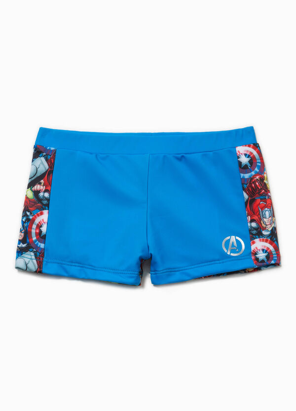 Swim boxer shorts with The Avengers print   OVS