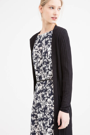 Long cardigan in 100% viscose.