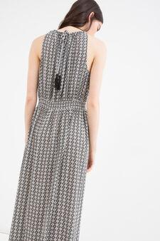 Patterned dress in 100% viscose, Black, hi-res