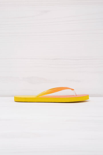 Degradé effect thong sandals, Yellow, hi-res