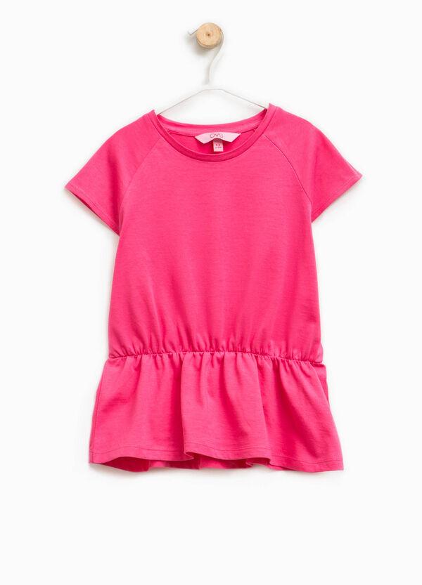 T-shirt in cotone con vita elasticata   OVS