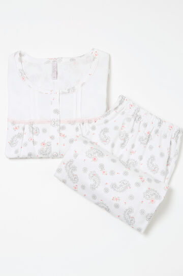 Curvy patterned cotton pyjamas