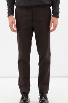 Rumford stretch cotton trousers, Brown, hi-res