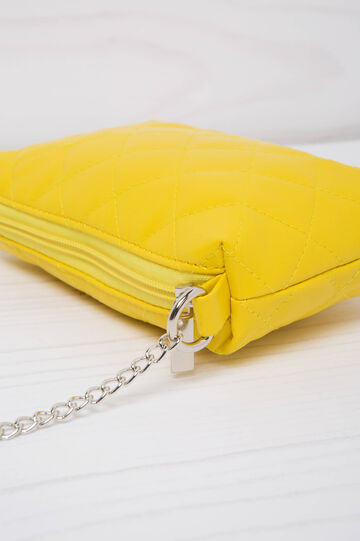 Quilted mini bag, Yellow, hi-res