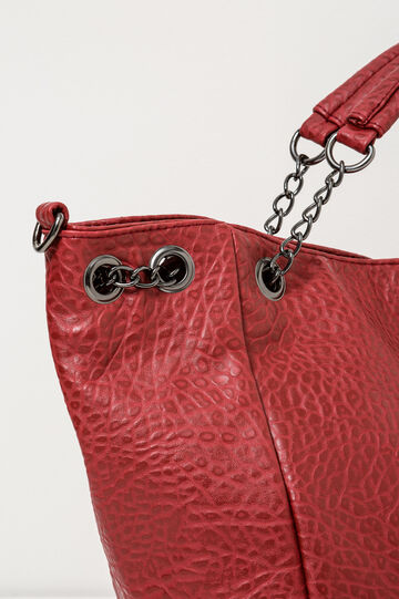 Handbag with chain handles, Red, hi-res