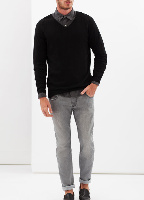 Sweater with V-neck | OVS