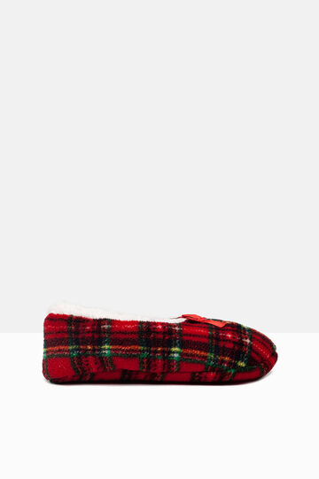 Patterned slippers, Green/Red, hi-res