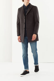 Coat with lapels, Dark Grey, hi-res