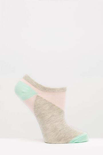 Set due paia di calze corte cotone, Grigio, hi-res