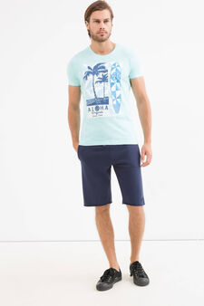 100% cotton T-shirt by Maui and Sons, Light Blue, hi-res