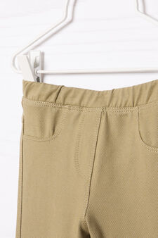 Stretch cotton blend jeggings, Army Green, hi-res