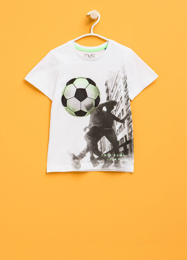100% cotton T-shirt with maxi print | OVS