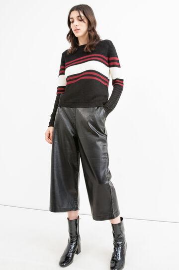 Pullover lavorato a tricot con ricami, Nero, hi-res