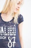 T-shirt misto cotone con stampa, Blu navy, hi-res