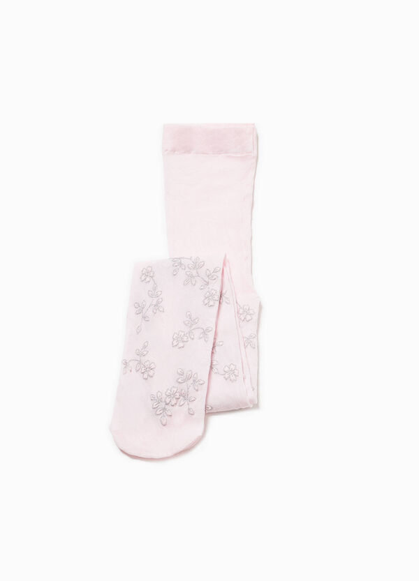 Glitter floral patterned tights | OVS