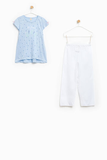 Top and speckled trousers pyjama set
