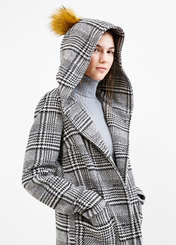 Tartan coat with hood | OVS