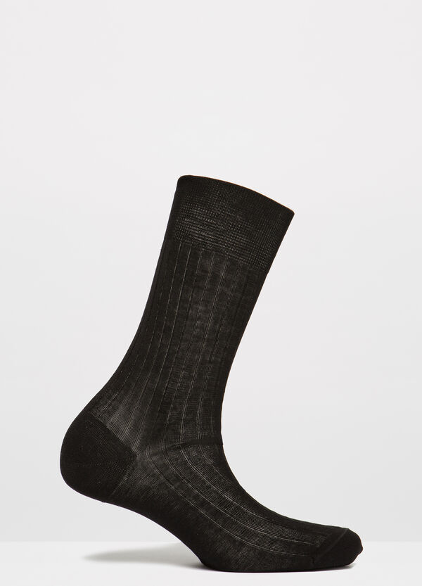 Solid colour 100% cotton socks | OVS
