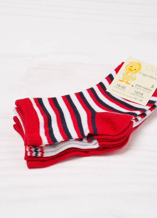 Three-pack striped socks | OVS