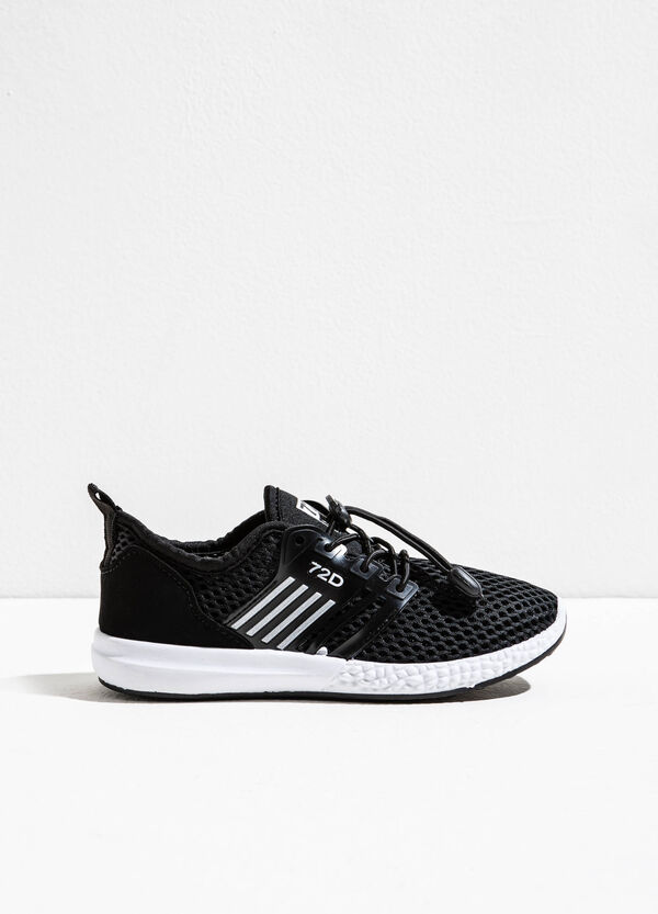 Sneakers with mesh upper and patch | OVS