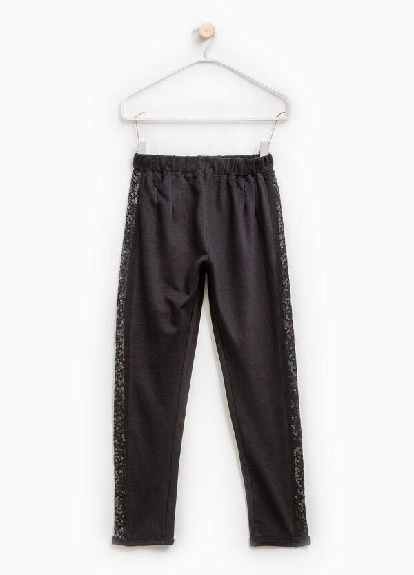 Pantaloni tuta cotone con paillettes | OVS