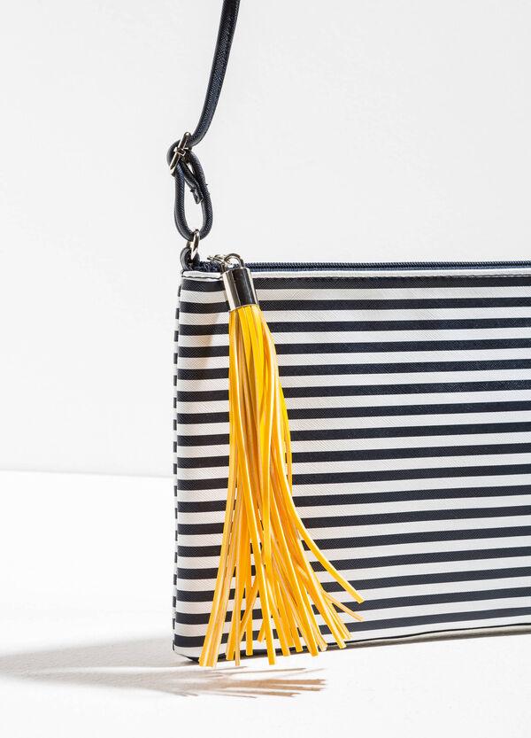 Striped shoulder bag with tassel | OVS