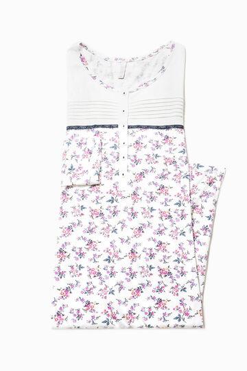 Camicia da notte floreale con pizzo, Multicolor, hi-res