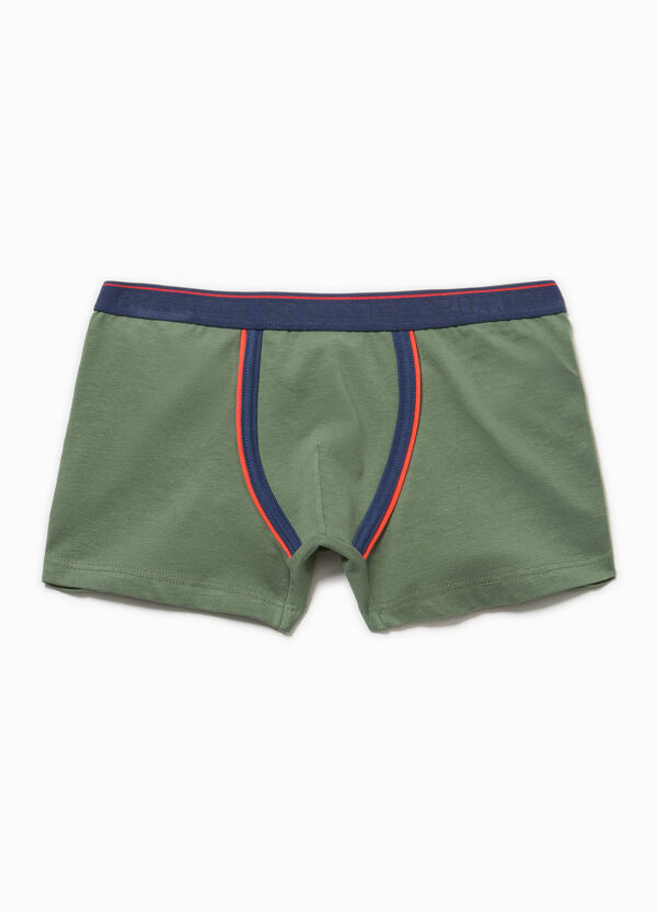 Boxer Biocotton stretch con ricamo | OVS