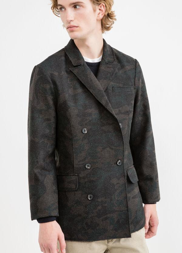 Cazadora de camuflaje de lana y viscosa | OVS