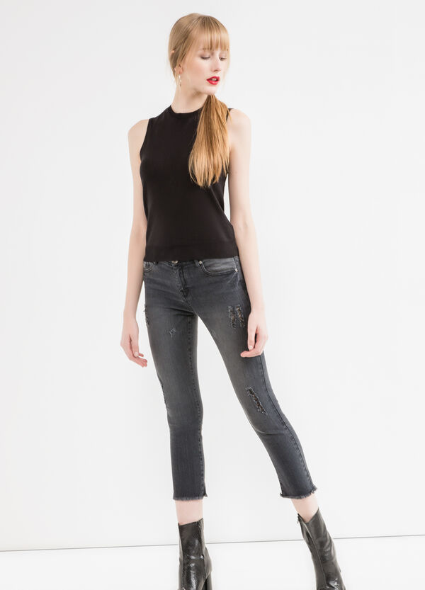 Jeans crop slim fit stretch | OVS