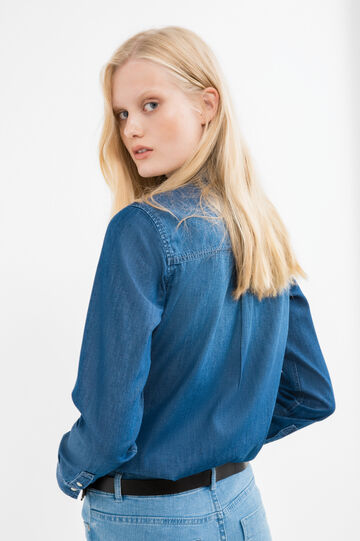Denim shirt with pockets, Denim, hi-res