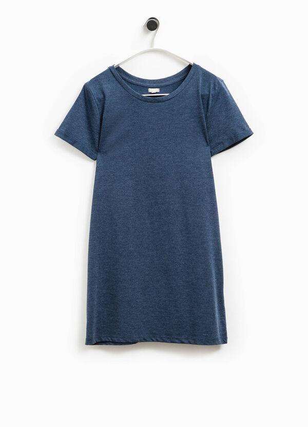 Camiseta larga en algodón 100% Smart Basic | OVS