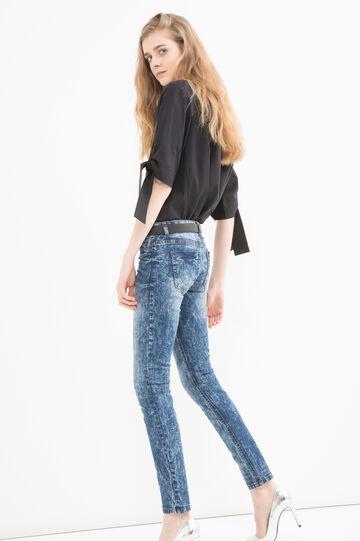 Skinny-fit, mis-dyed jeans, Dark Blue, hi-res