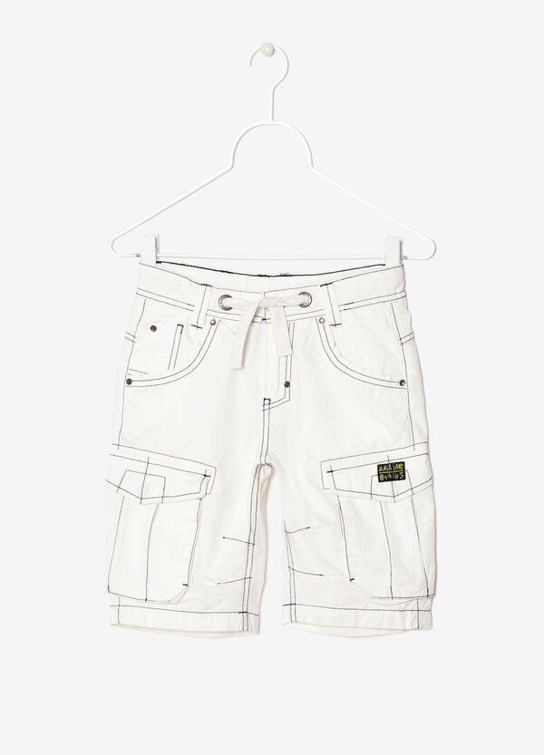 Bermuda shorts with highlighted stitching | OVS